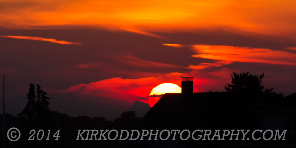 Rooftop Sunset at Avery Point