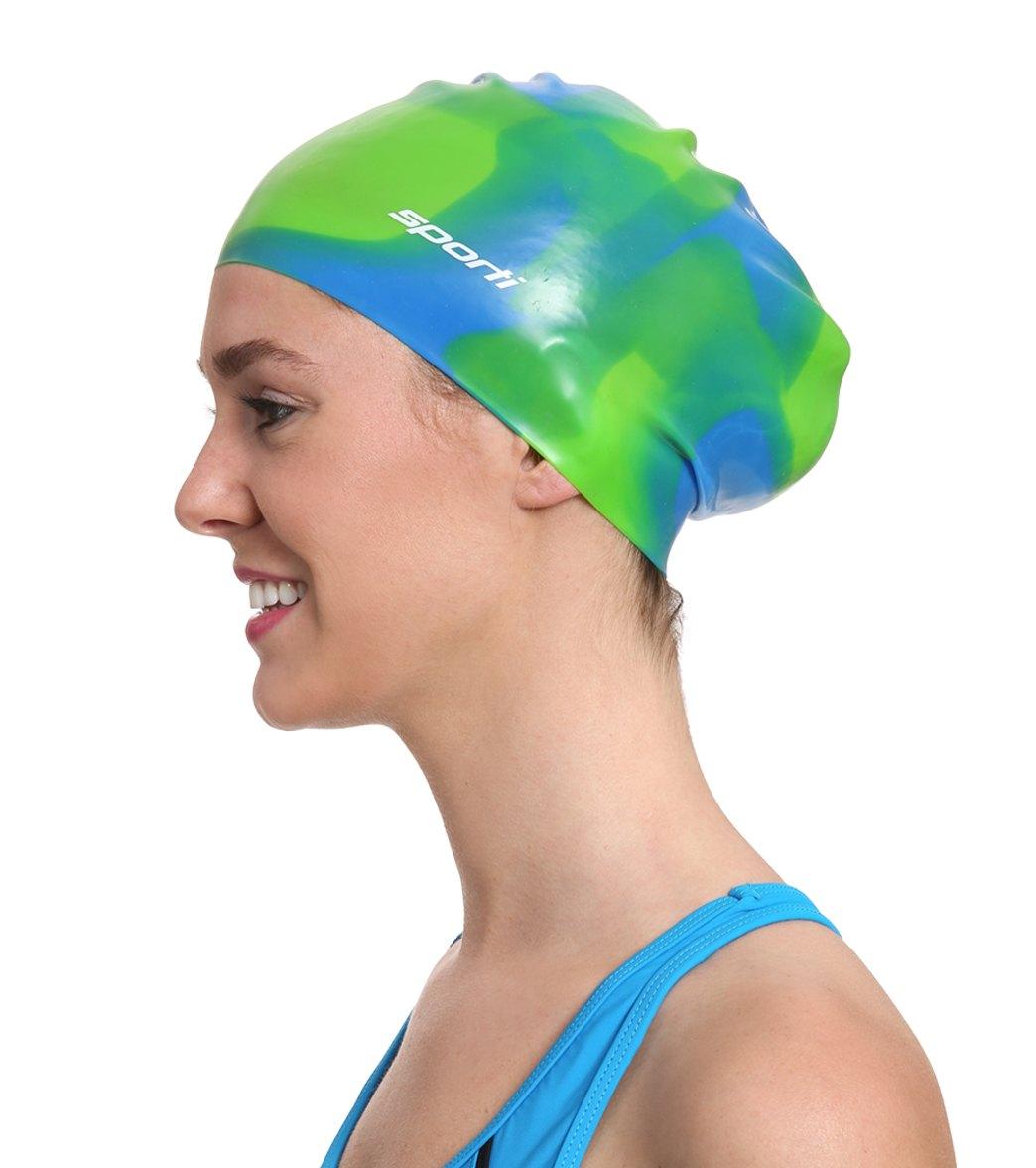 Sporti Long Hair Silicone Swim Cap Kirk Scuba Gear