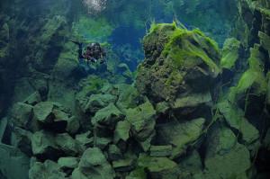 Continental Underwater Rift in Iceland