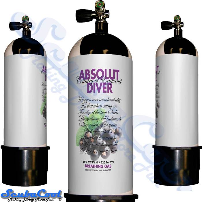 2701 Scubacool Scuba Dive Gas Cylinder Tank Cover NOT neoprene