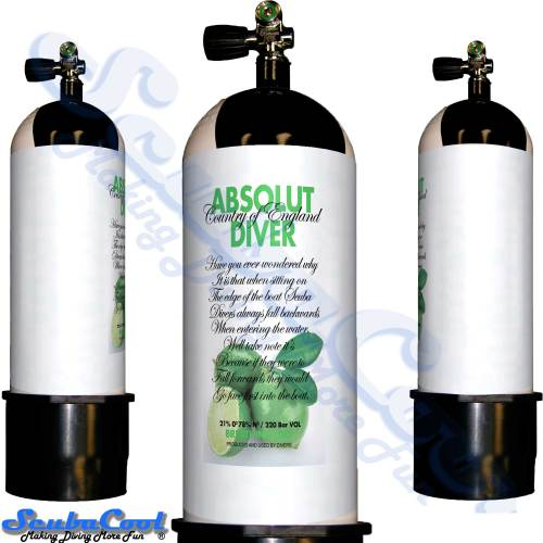 2703 Scubacool Scuba Dive Gas Cylinder Tank Cover NOT neoprene