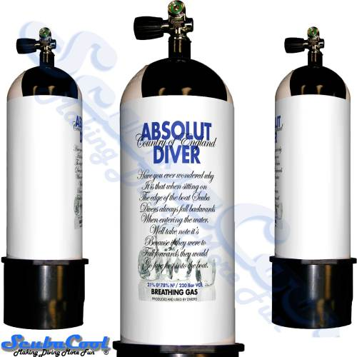 2704 Scubacool Scuba Dive Gas Cylinder Tank Cover NOT neoprene