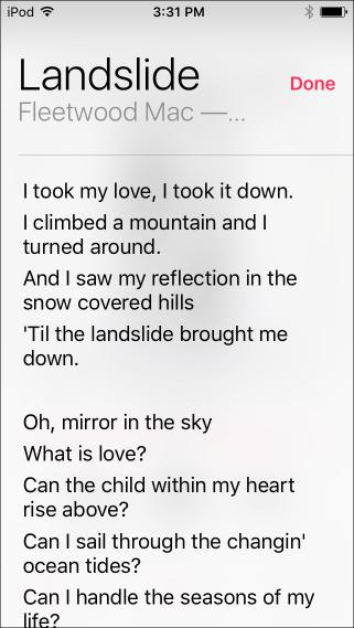 Ios lyrics2
