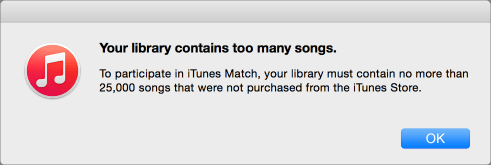 Itunes match limit