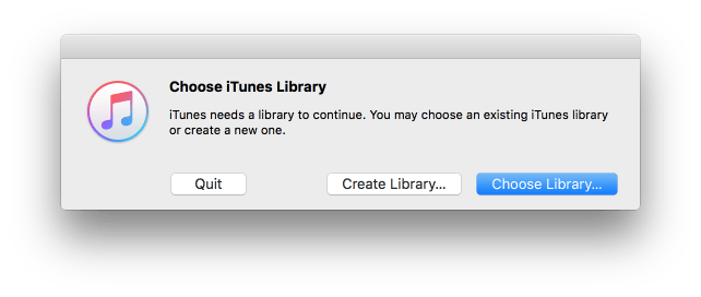 New itunes library