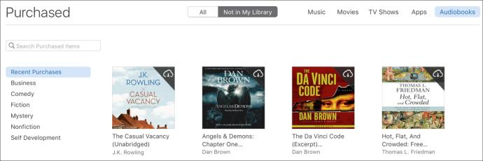 Purchased audiobooks