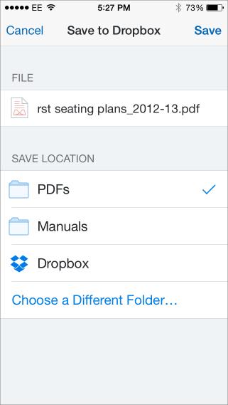 Save pdf to dropbox3