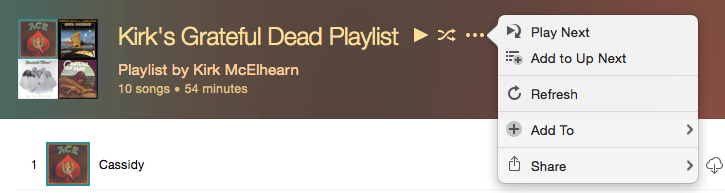 Shared playlist