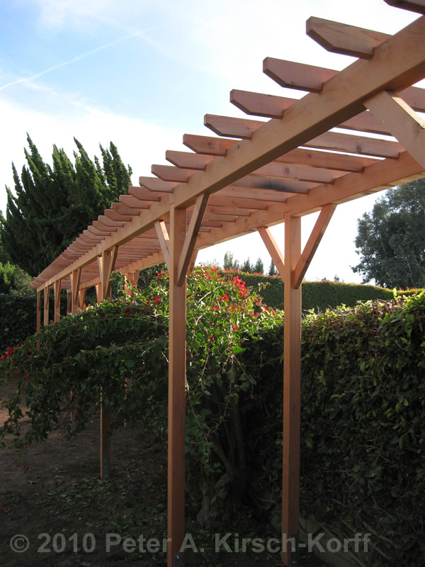 West Los Angeles Wooden Grape Arbor Perfect For Homes In