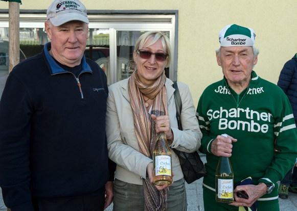 Ludwig und Rudi Kretz mit Frau Vbgm. Mag. Jutta Kepplinger