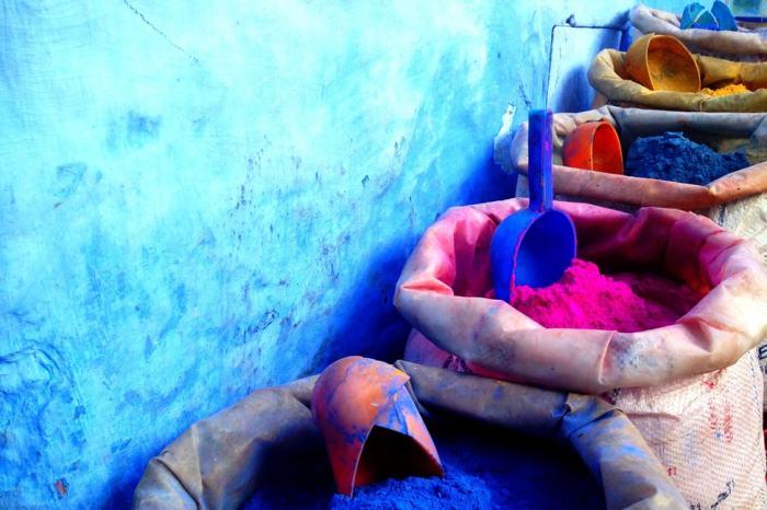 morocco dye print