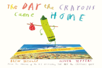 crayons, children's. books, book, home, day