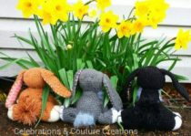 crochet bunny, crochet, crocheting, easter