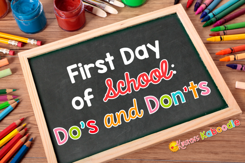 These first day of school do's and don'ts will help alleviate teacher's back to school jitters and provide them with a list of useful survival tips.