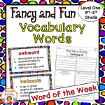 Fancy word vocabulary level one is perfect for 3rd-6th grade and will keep your students engaged for weeks!