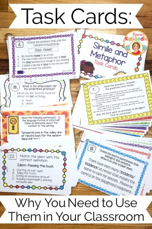 Have you ever wondered what teachers do with task cards? You need to utilize the benefits of task cards with your students for so many reasons!
