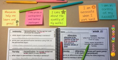 Do you use positive affirmations in the classroom? Could you students benefit from having these positive messages in their environment (on desks, walls, mirrors, or lockers)? Printed sticky notes make affirmations easy!