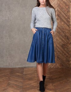 denim full skirt