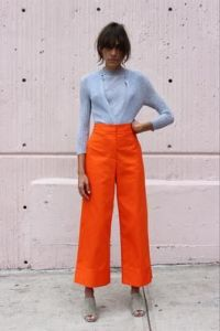 Blue and orange colour combinations