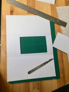 cut a frame out of the middle rectangle