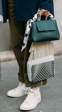 scarf tied around bag handle