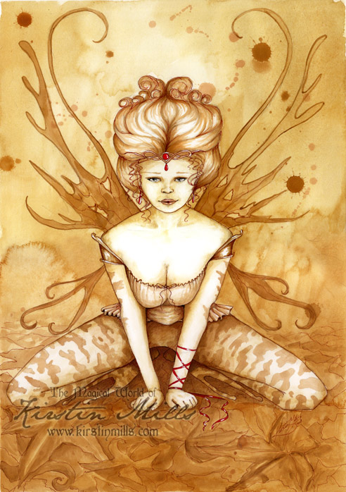 Frog Fairy Queen by Kirstin Mills, Fairy Tales, Fairies and Fantasy Art and Illustration