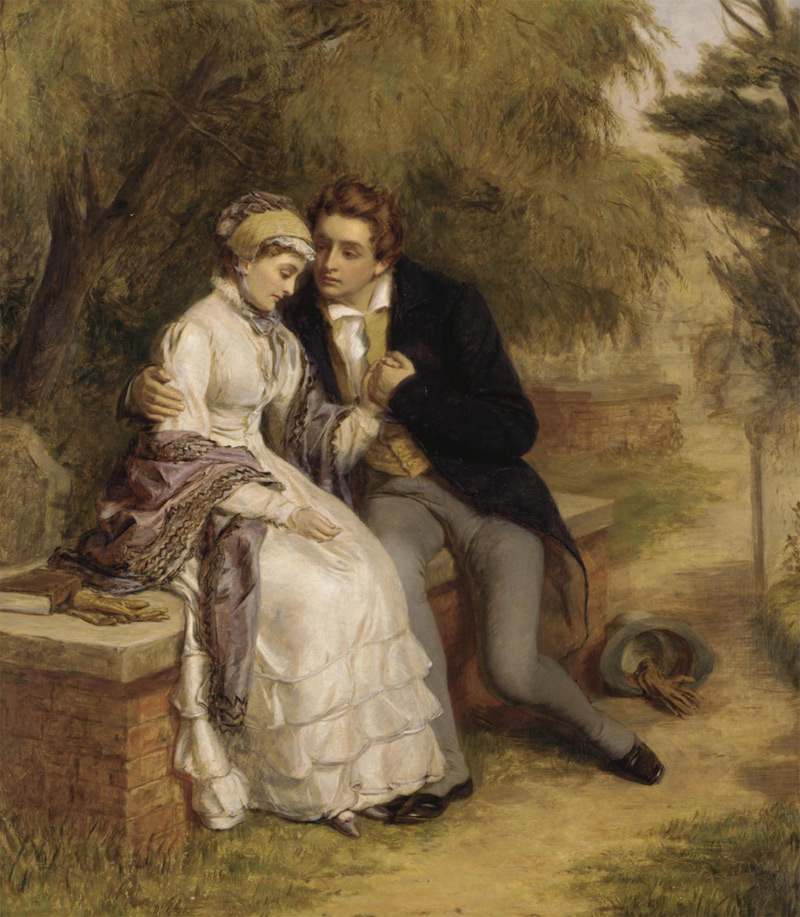 Mary Shelley, Percy Shelley, lovers, St Pancras Churchyard, romantic, art, nineteenth century, Frankenstein at 200, Anniversary