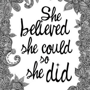 Self-belief will take you far