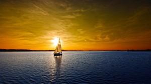Boat on a calm sea