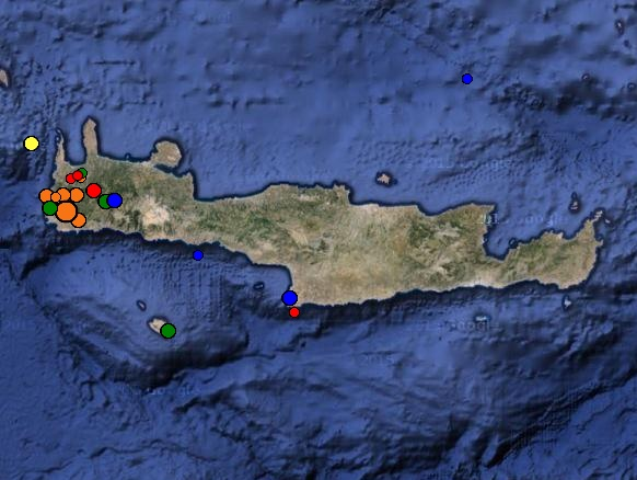 Crete Earthquakes