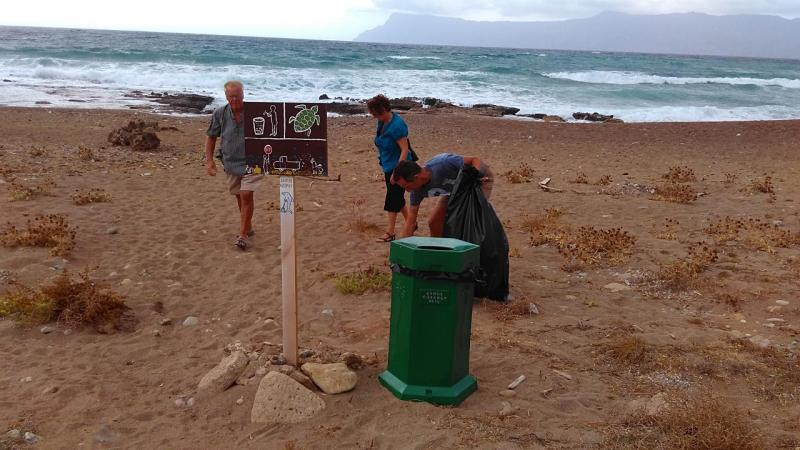 Volunteer Bins on Kissamos Beaches