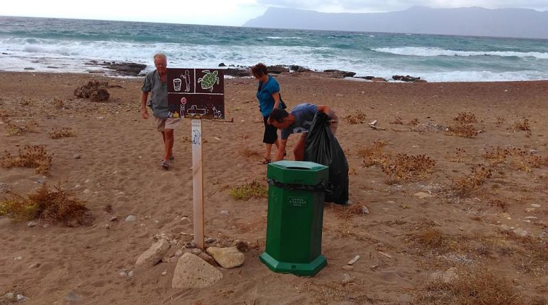 Volunteer bin on Kalyviani
