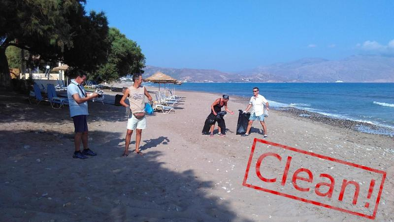 Cleaning Korfalonas Beach