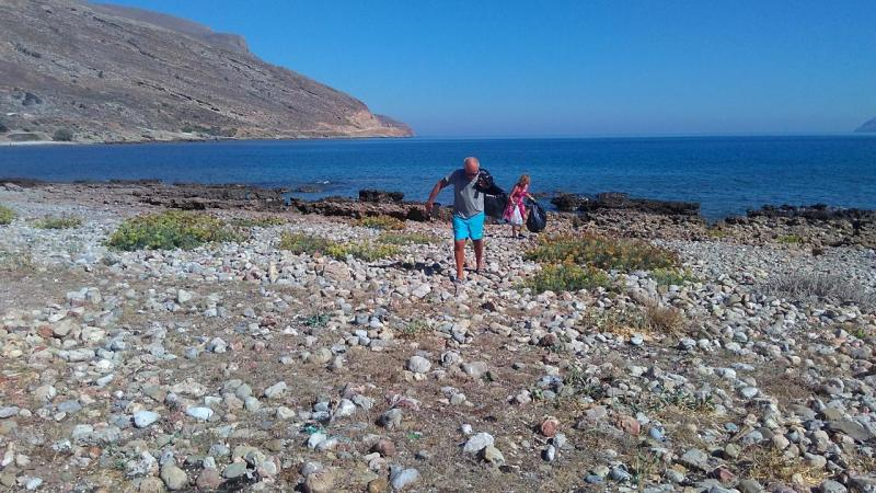 Beach Cleaning in Gramvousa