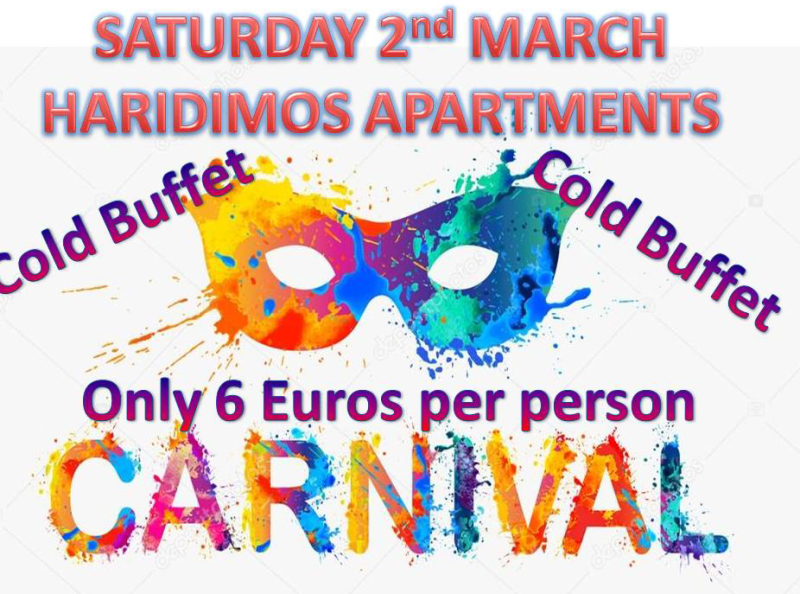 Carnival Party – Tavronitis 2nd March