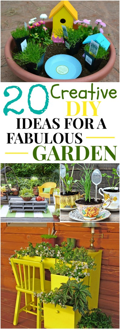 20 creative ideas for a fabulous garden