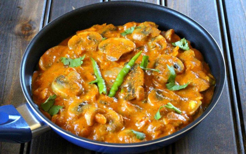 Vegan mushroom-butter-masala