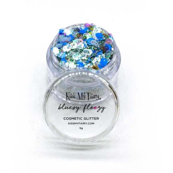 festival cosmetic glitter blue glitter beard Kiss My Fairy Ibiza UK
