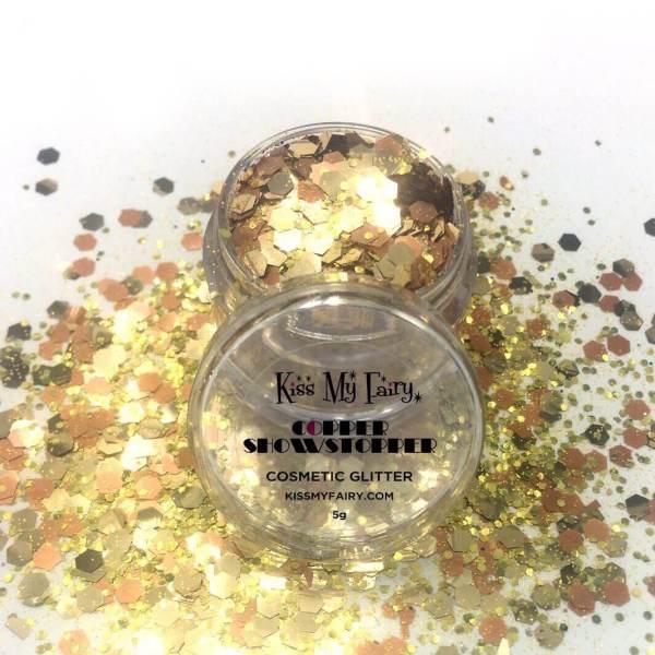 copper chunky glitter cosmetic grade Kiss My Fairy Ibiza UK