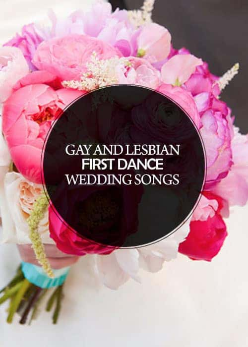 Gay and Lesbian First Dance Wedding Songs :: There's a greater need for recommendations for #gay and #lesbian #couples #firstdancesongs - not all love songs are appropriate for all love stories. #LGBTQ #wedding