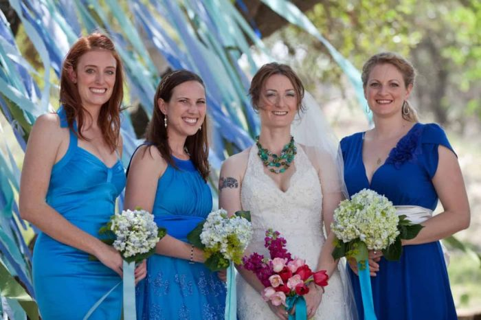 I'm talking specifically about my bridesmaids (or BMs for those of us who like the potty humor). I have to say that my bridesmaids were probably the most awesome ones ever. Seriously. Don't be jealous.