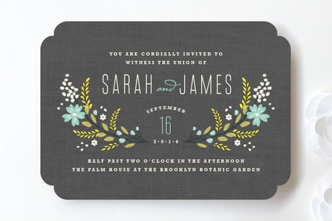Deal of the Day: Up to 15% off all Minted Wedding Stationery