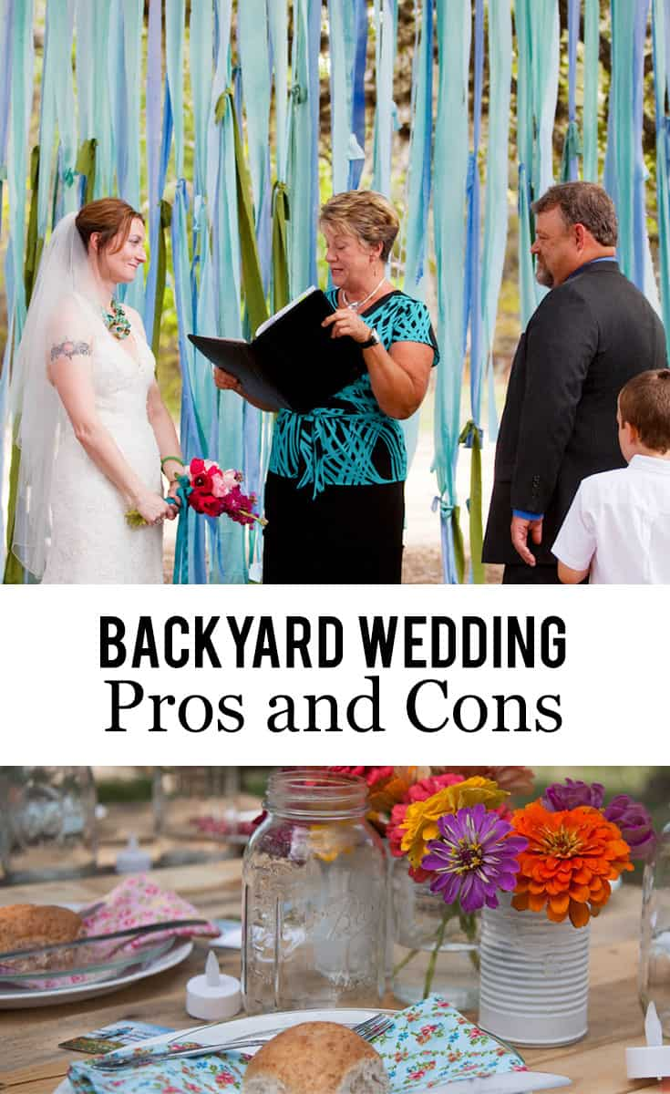 Backyard Wedding Pros and Cons :: A #backyardwedding isn't for everyone. Here's my list of #backyard #wedding pros and cons to help you make your backyard-or-not decision.