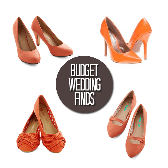 Budget Wedding Finds: Orange Shoes