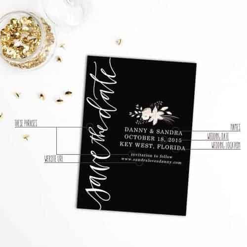 The Only 5 Things That Need To Be On Your Save-The-Dates