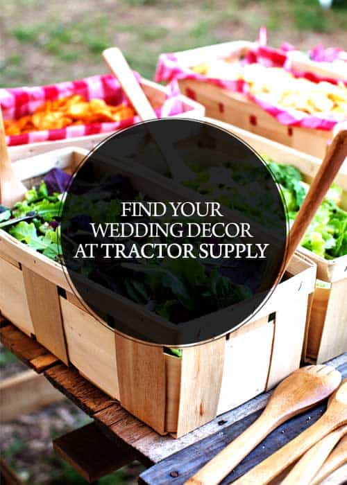Looking for some non-traditional places to shop for your wedding decor (and save a bundle)? Well, look no further than your local Tractor Supply!