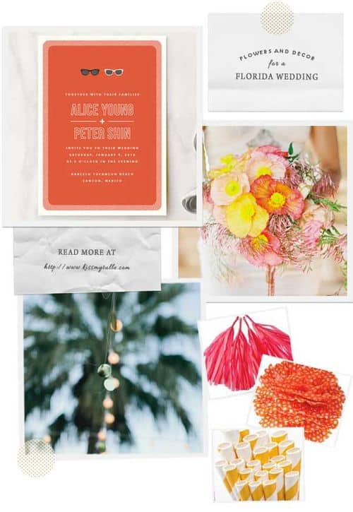 check out these suggestions for flowers and decor for a Florida wedding.