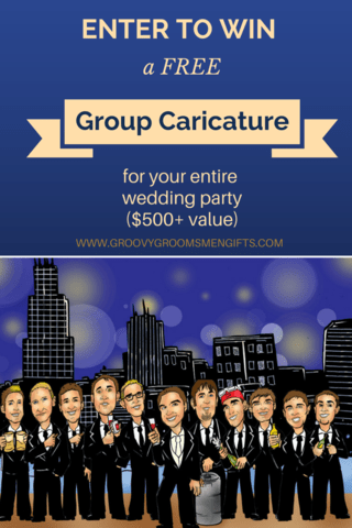 Win a free group caricature for the entire wedding party!
