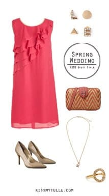 If you're attending a spring wedding (or engagement party), it can be difficult to find an outfit to wear that's also affordable. || Spring Wedding Guest Style for $100