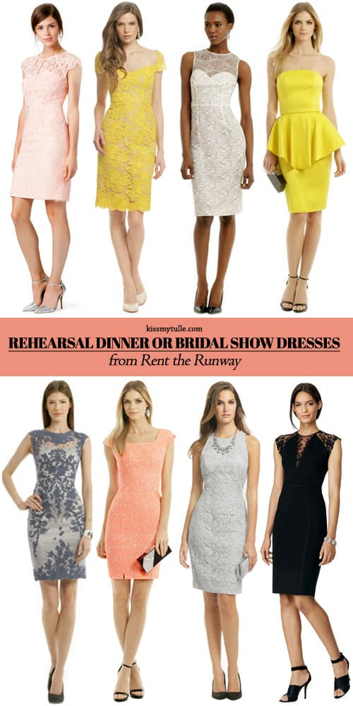 Awesome Rehearsal Dinner or Bridal Show Dresses from Rent the Runway || New Customers Get $25 Off $75+ Rentals When You Use Code: 25OFFNEW